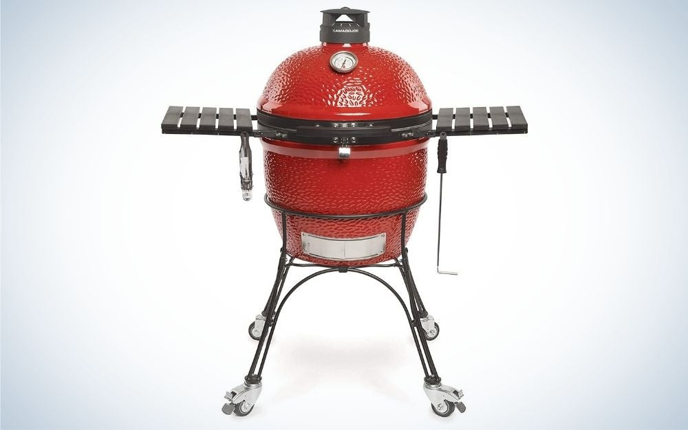 Red, ceramic charcoal grill father's day gifts for the dad who loves to grill