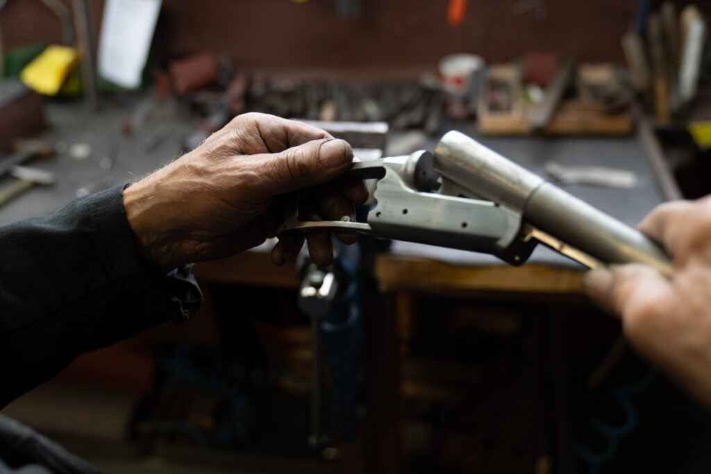 Bespoke shotguns are hand-made.