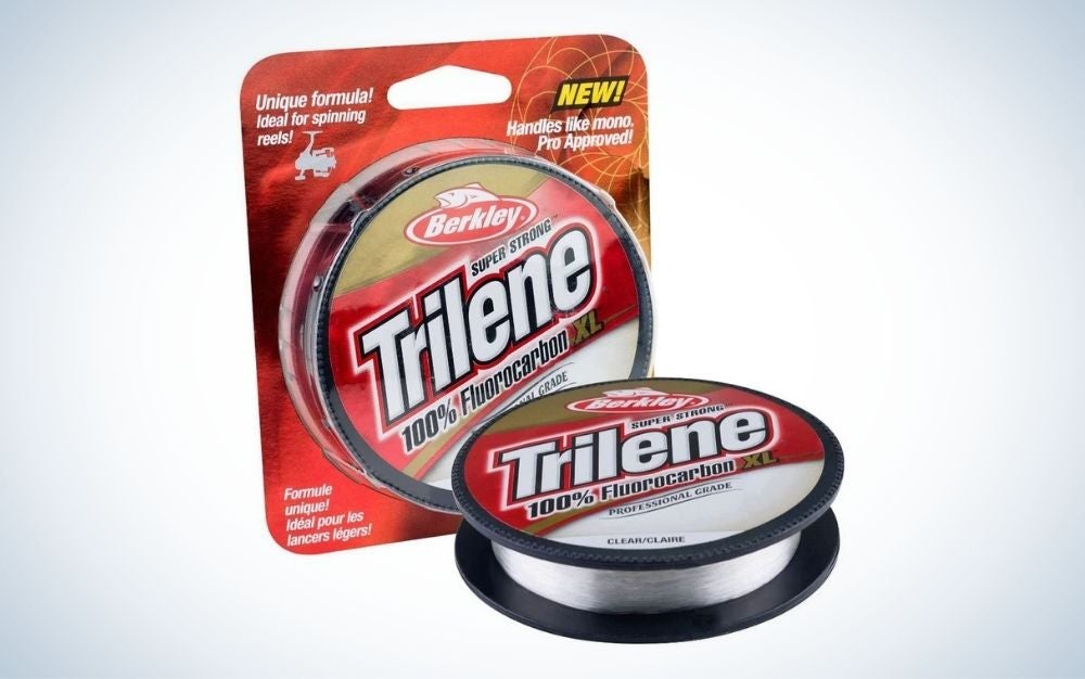 Clear, fluorocarbon fishing line and the box next to it