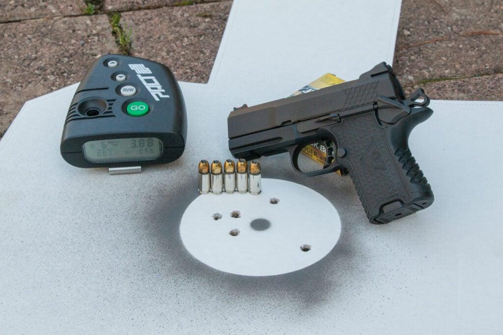 Steel target handgun self defense shooting drill