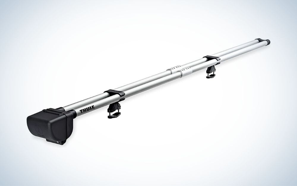 Gray and black fly fishing rod rack