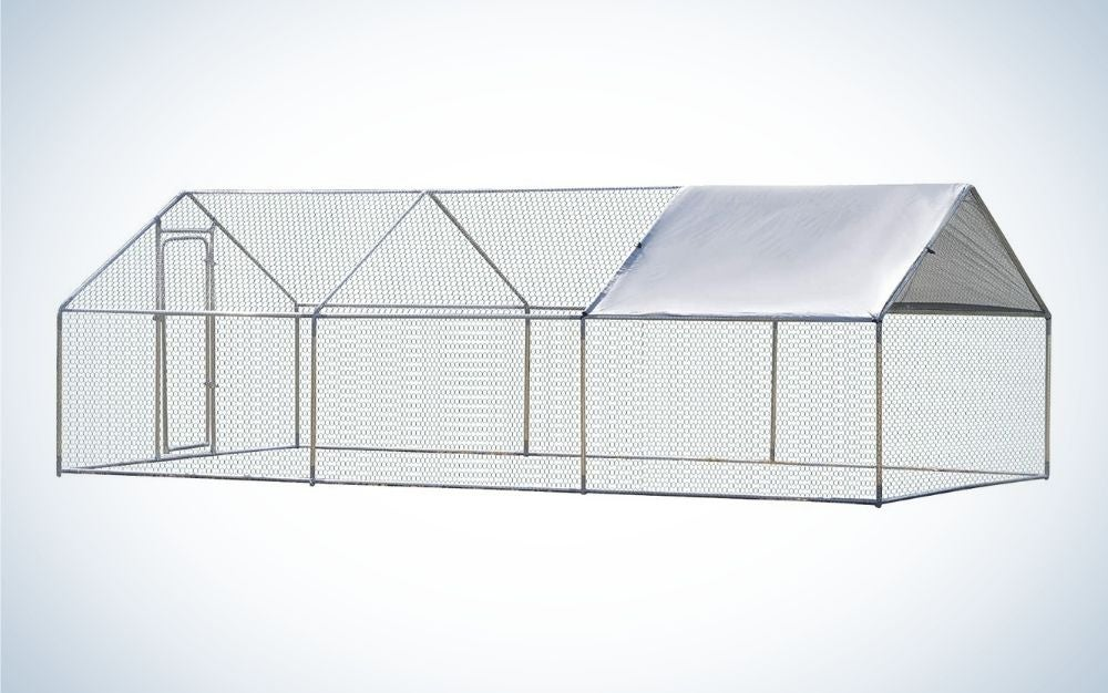 Large metal rabbit run with cover
