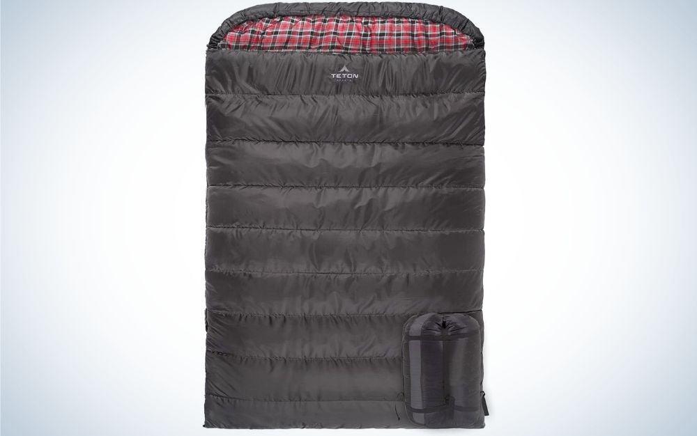 Black double sleeping bag