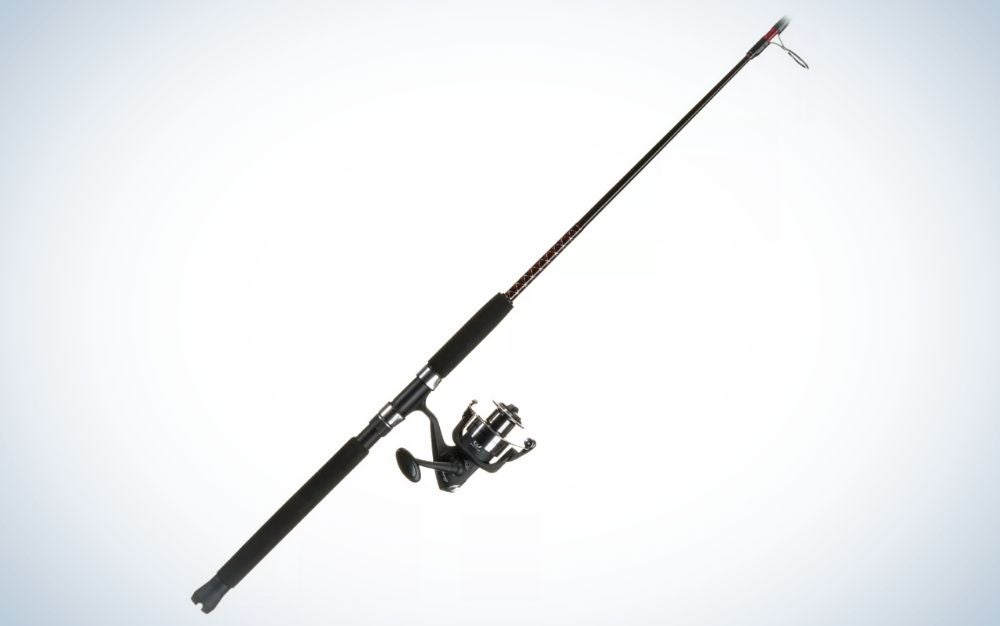 Black spinning rod and reel combo