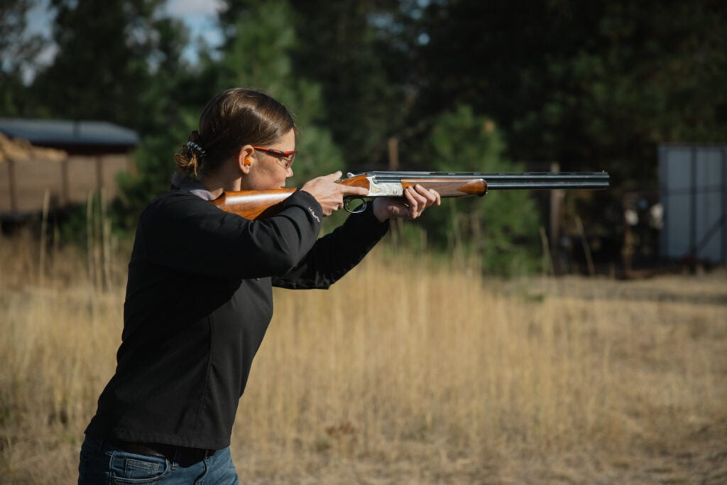Many production shotguns will not fit a woman properly.