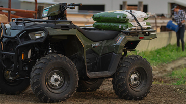 This ATV was built for hunting small farms