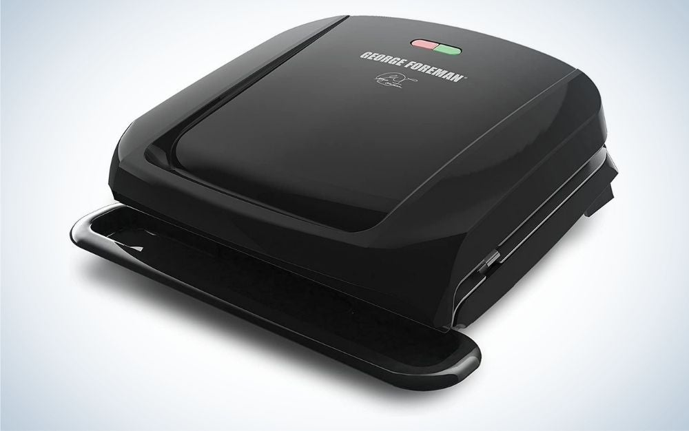 Black removable plate grill and panini press prime day deal