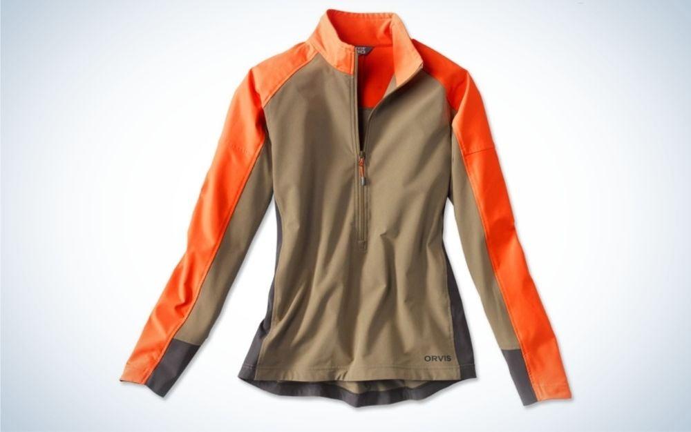 Tan blaze, light weighted, softshell pullover