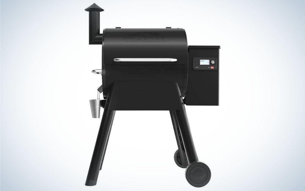 Black, wood pellet grill prime day deal