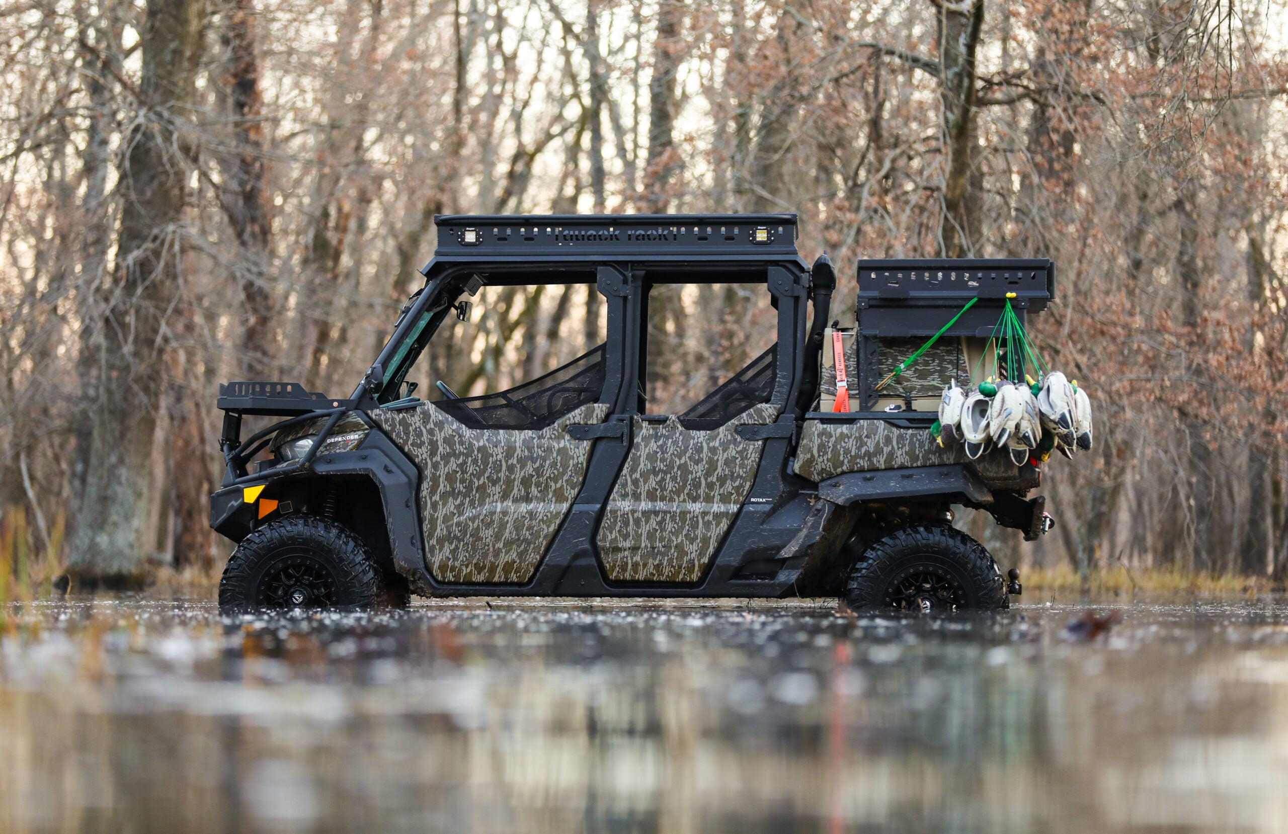 The customized Can-Am Defender.