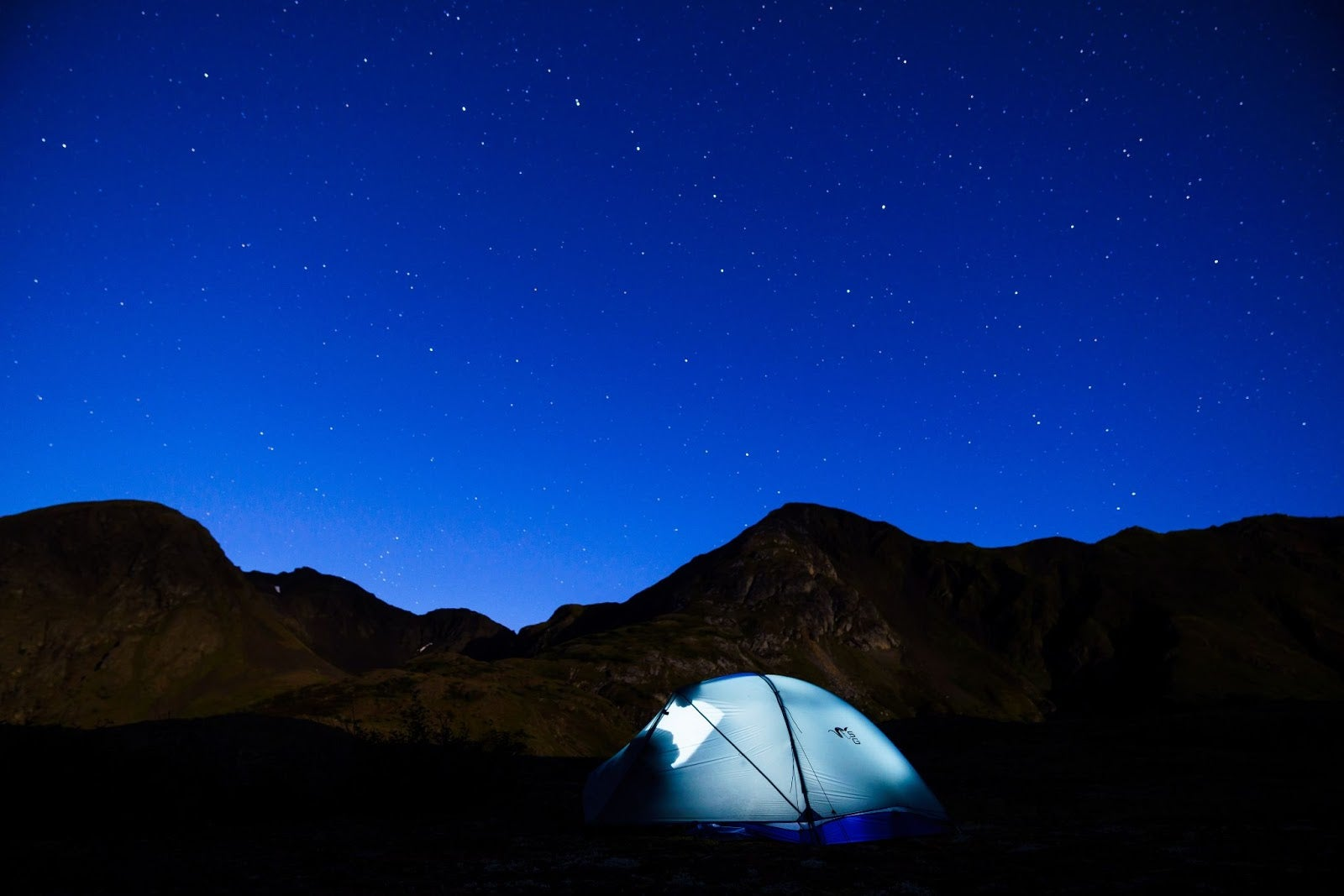 camping in wilderness under a sky full of stars