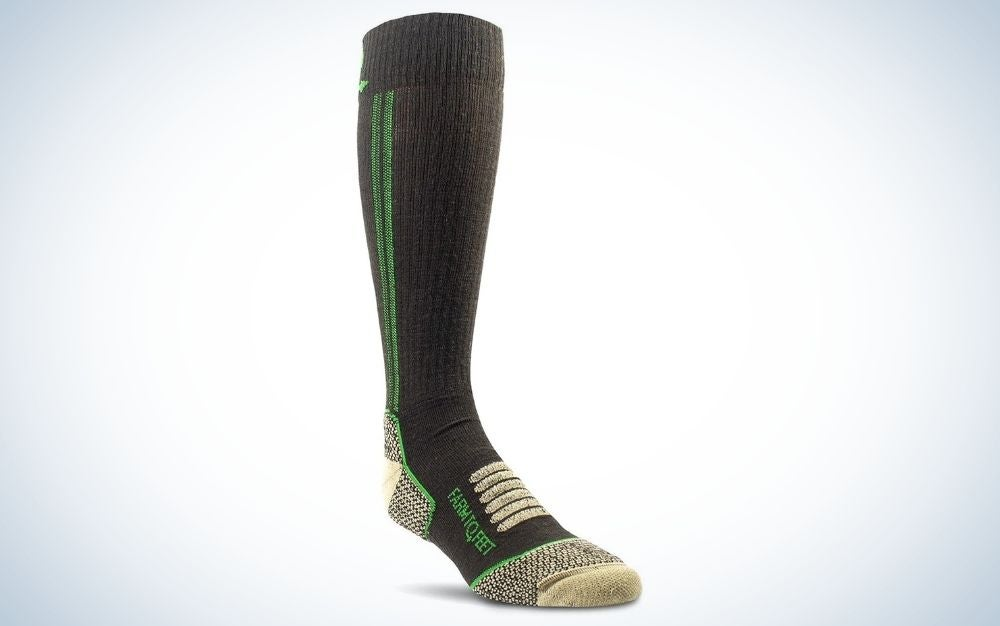 Brown, hunting mid-calf socks for father's day gift