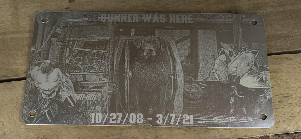 Gunner Can-am plaque.