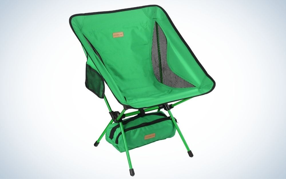 Lightweight, green, portable camping chair for the best father's day gift