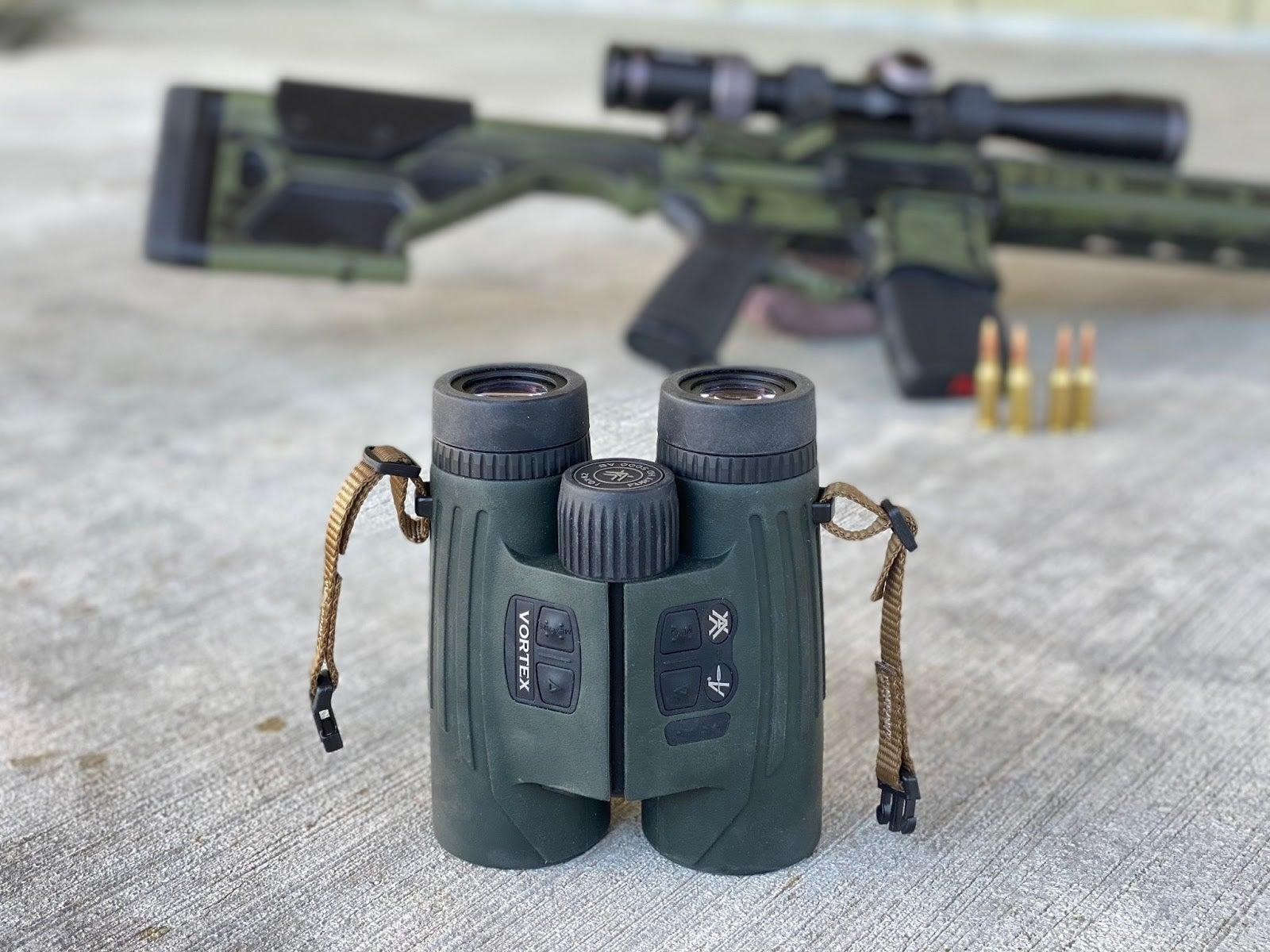 The Vortex Fury HD AB 5000 ranges, spots and calculates ballistics.