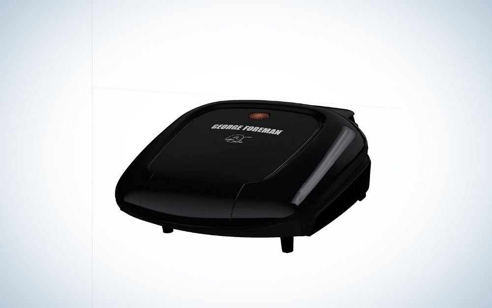 A classic black grill plate and small in square shape.