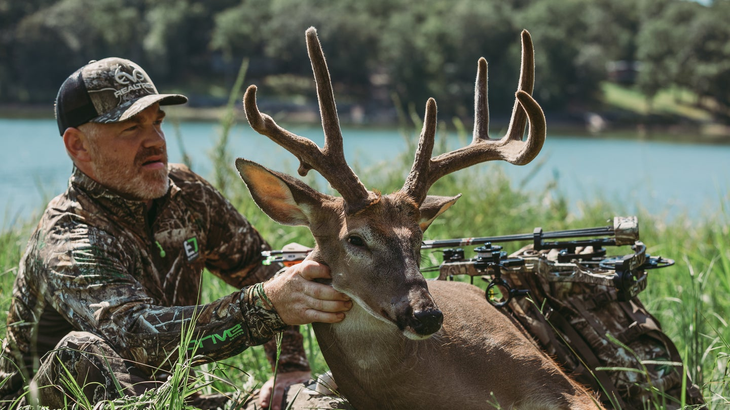 This velvet buck was shot by the author in Kentucky