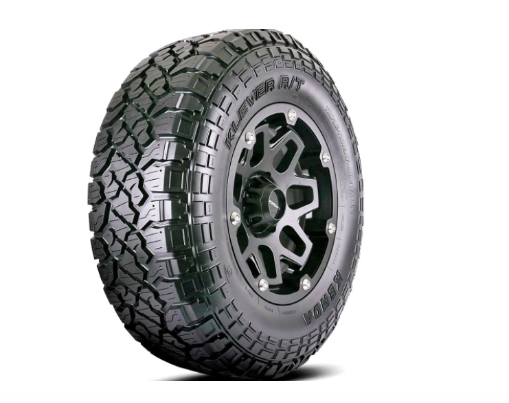This tire was designed for mud, but performs on pavement as well.