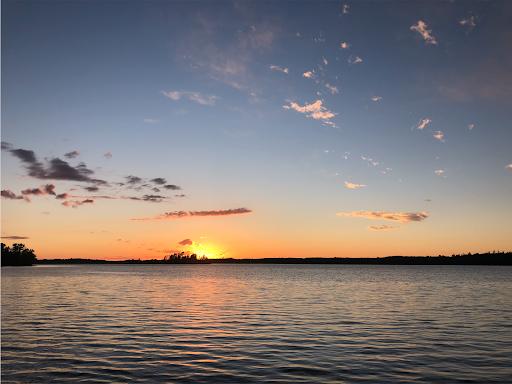 sunset on lake vermillion in northern Minnesota