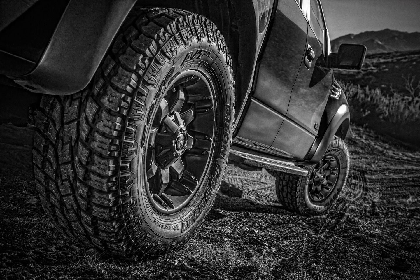 Aftermarket truck tires allow you to access locations standard tires will not.
