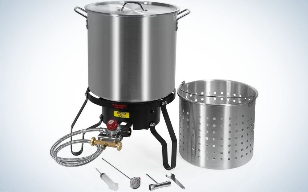 The Barton fryer steamer is the best turkey fryer for seafood.