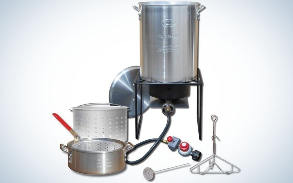 The King Kooker is the best turkey fryer for all around use.
