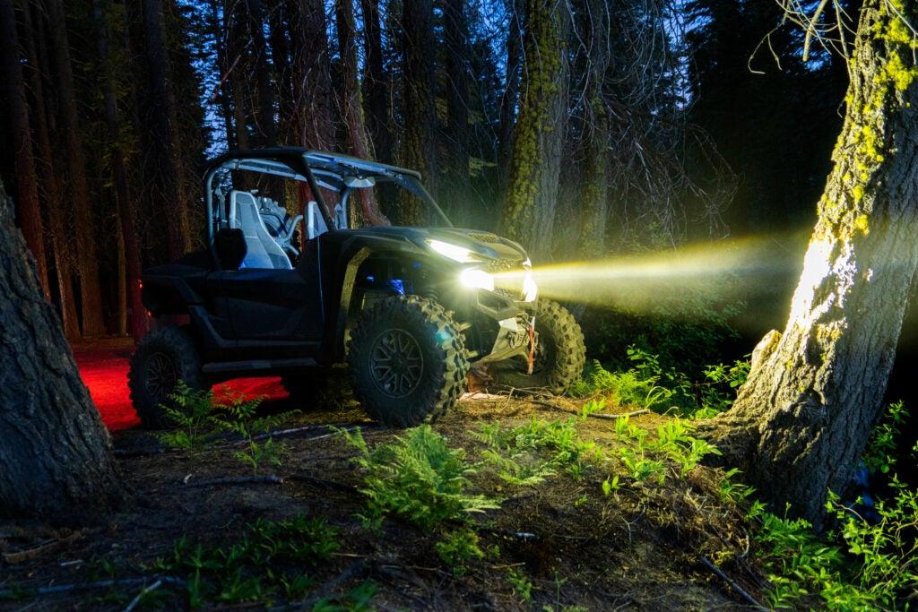 Yamaha's RMax lights up the night.
