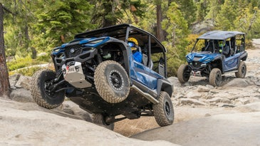 The RMax performed well on the rocks of the Rubicon.
