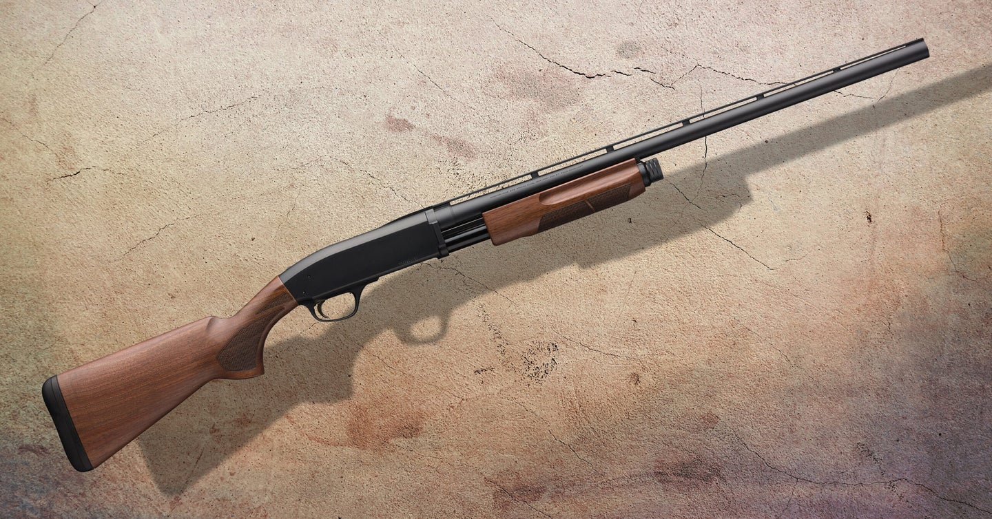 The .410 pump shotgun from Browning is a fine choice for a small-bore pump.