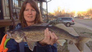 Colorado angler with one of her world-record line class catches.
