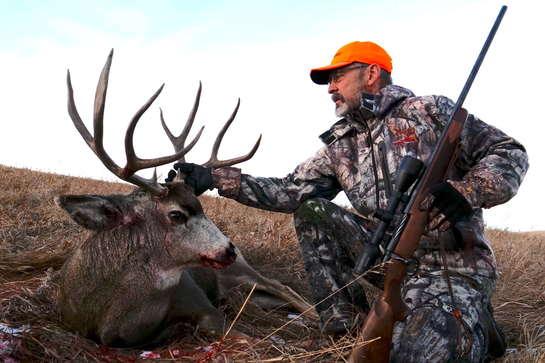 A 6.5 Creedmmor did the job on this mule deer.
