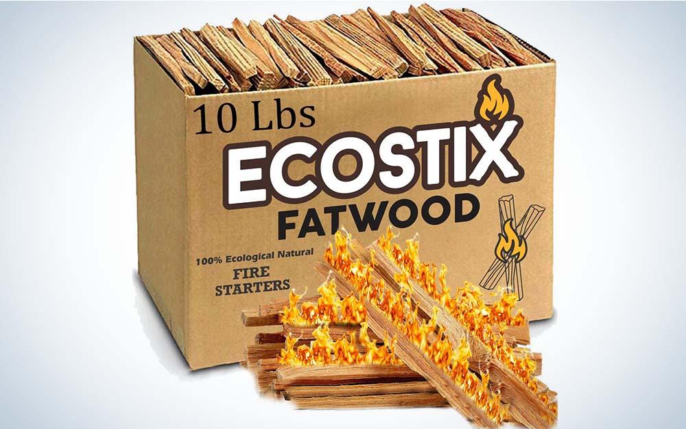 A cardboard box of small, thin sticks
