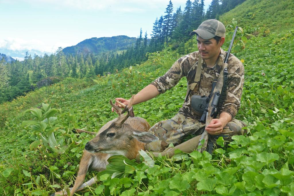 A blacktail hunter in Alaska.
