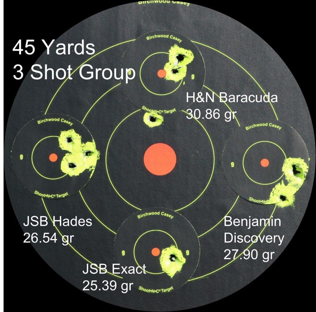 shooting target for airguns