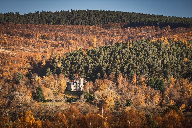 Tulchan Lodge nestled into the hillside