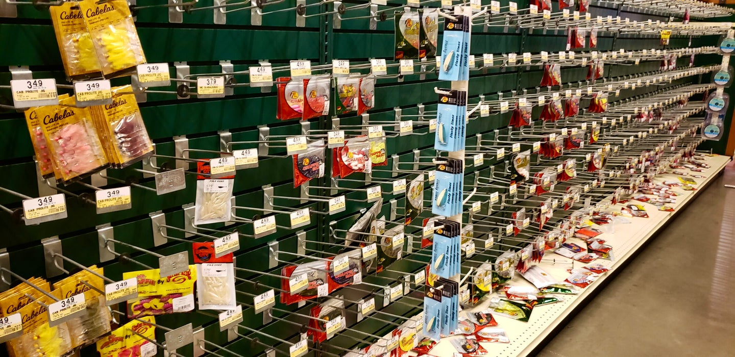 Fishing tackle out of stock