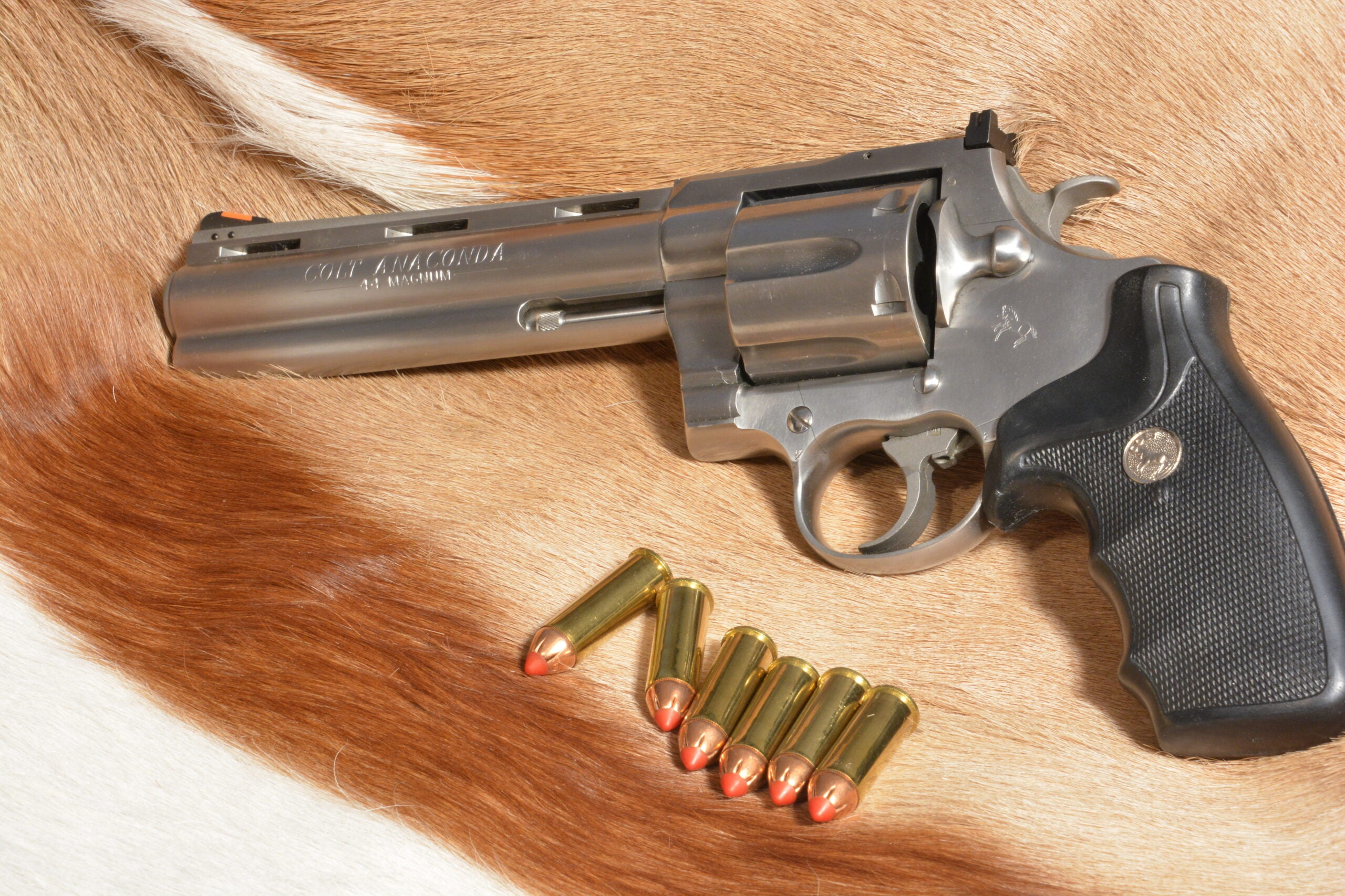 Colt Anaconda in .44 Magnum is our pick for best revolver.