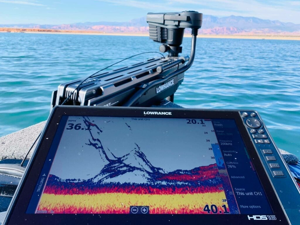 Lowrance ghost is our pick for best trolling motor transducer