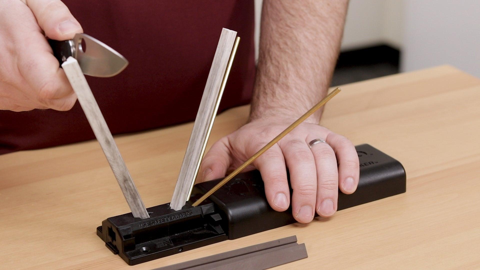 Spyderco Sharp Maker is the best knife sharpener for kitchen knives.