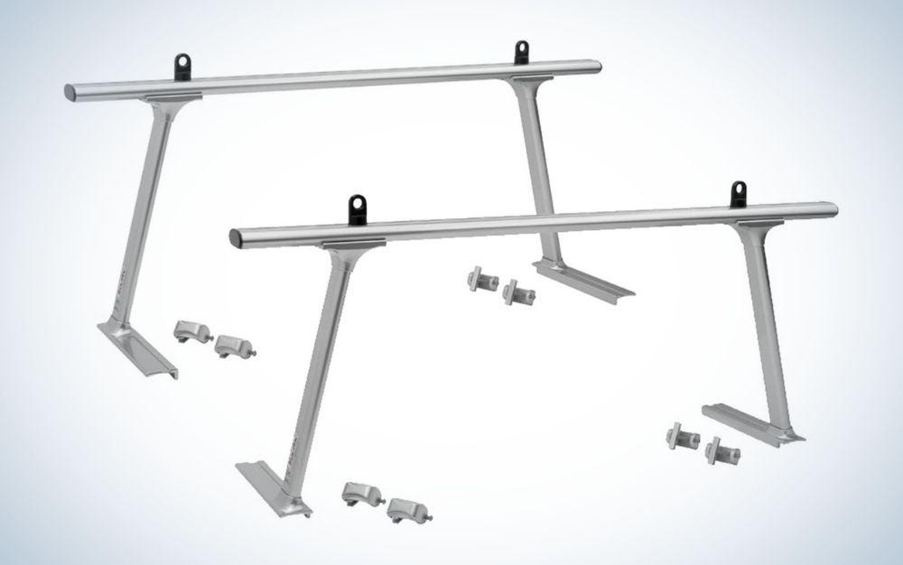 Silver, aluminum universal truck bed extender