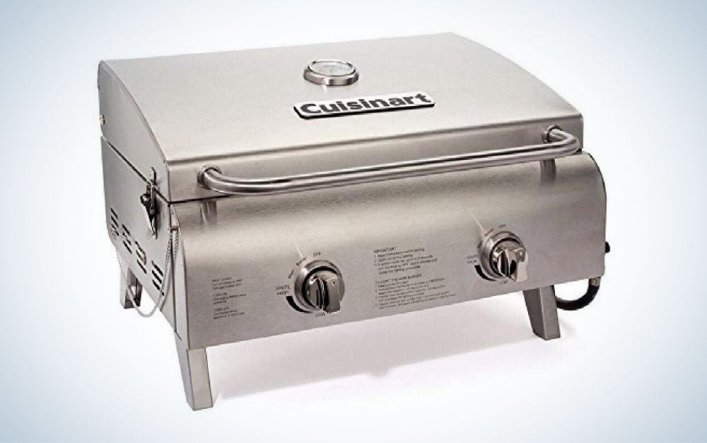 Stainless steel, 2-burner, propane, tabletop gas grill