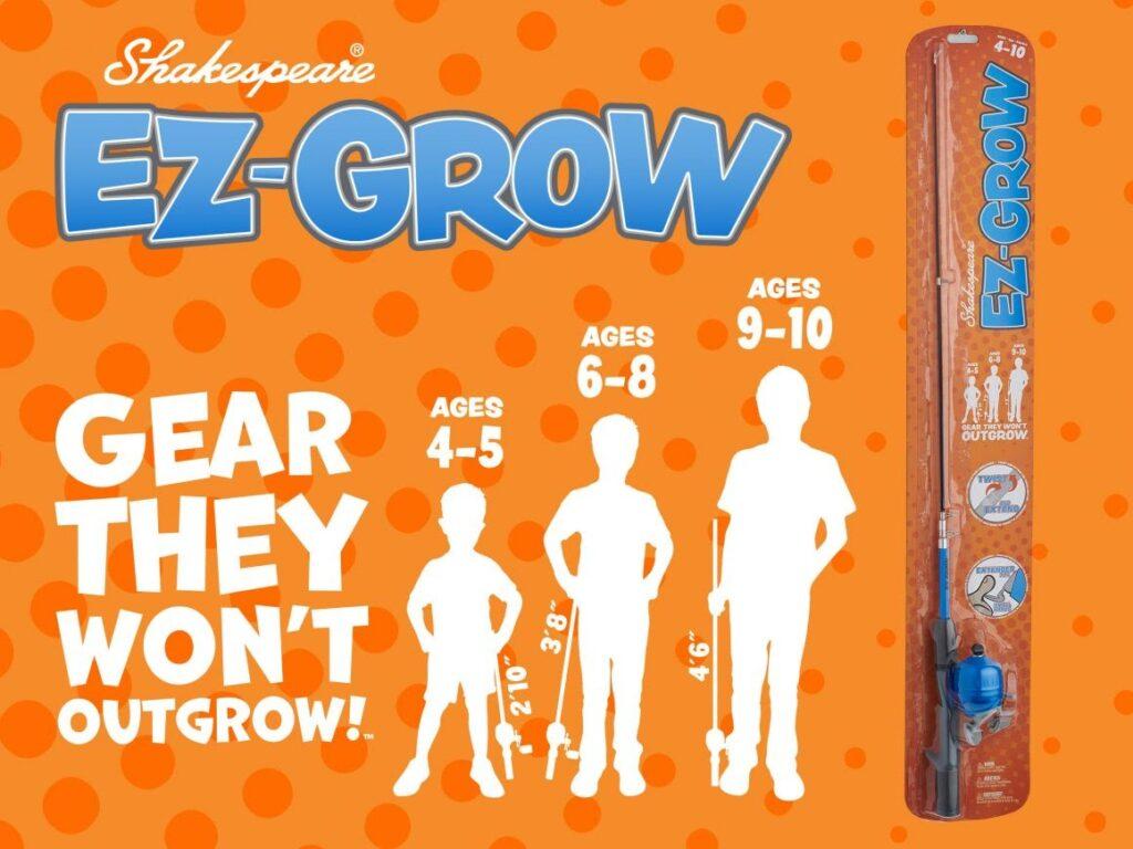 Shakespeare EZ-Grow 4+ fishing combo