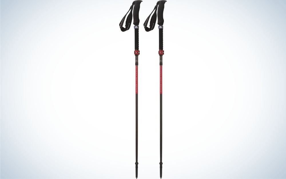 Two long, straight sticks and on top of them two black ties to hold.
