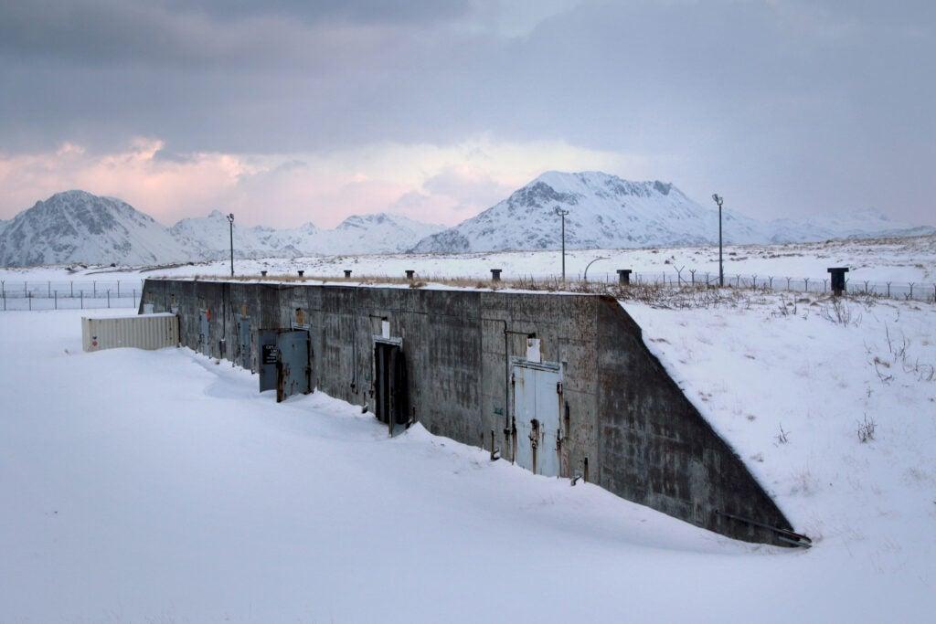 The seven doors of doom, an old nuclear hanger, on Adak Island.