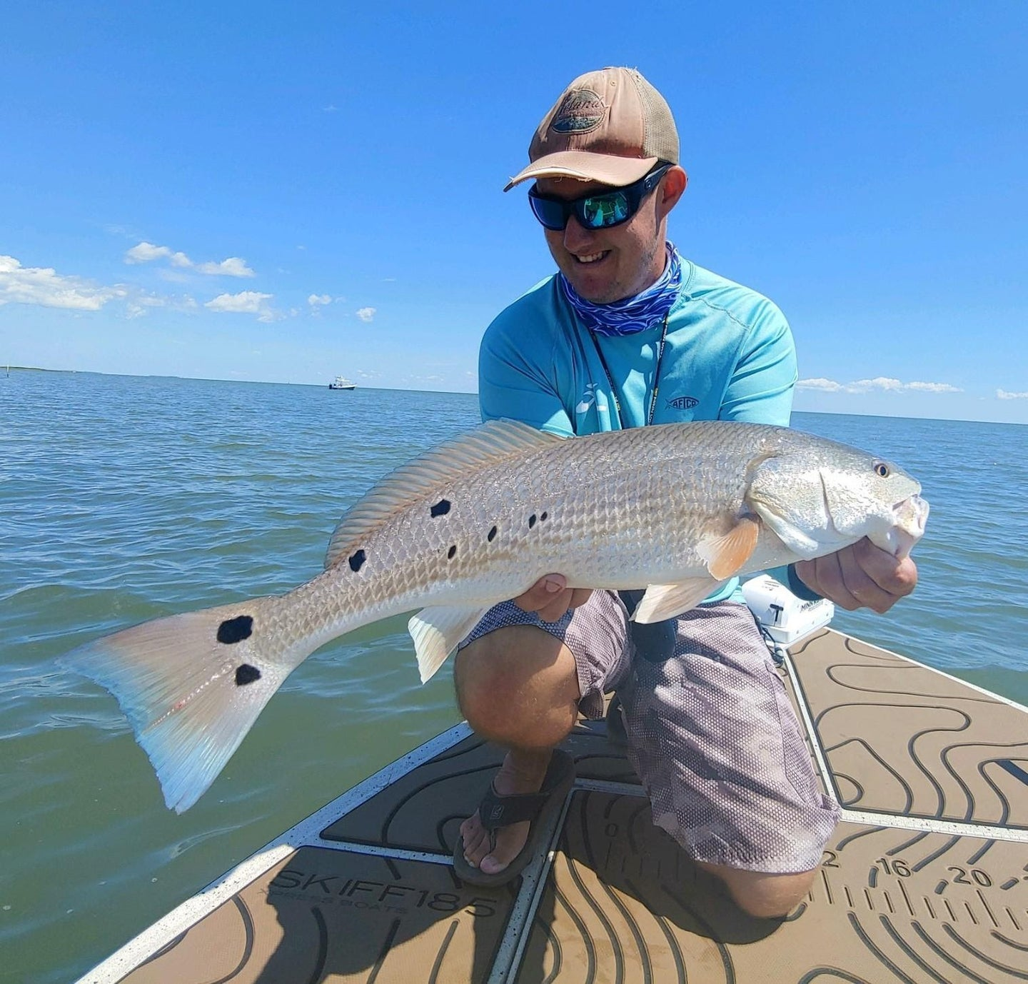 Puppy drum caught with Shimano Nasci