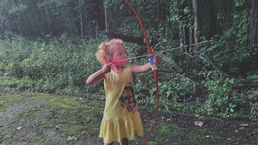 Teaching kids archery doesn't have to start at a certain age.