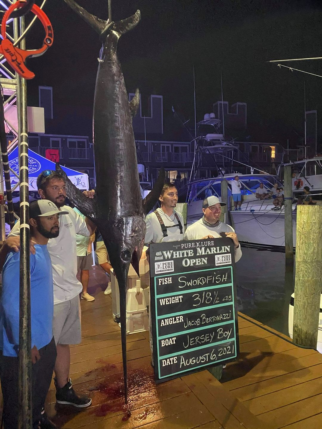 The new Maryland state swordfish record, broken in August 2021.