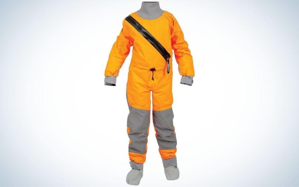 Orange and grey, dry paddling suit