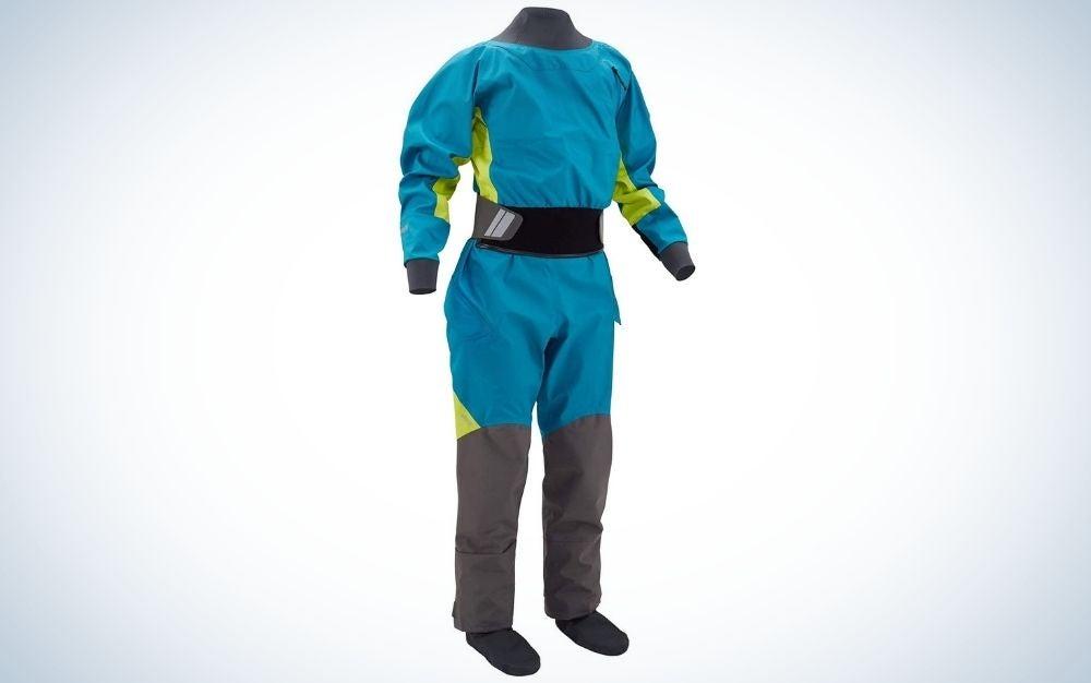 Blue women's pivot dry suit