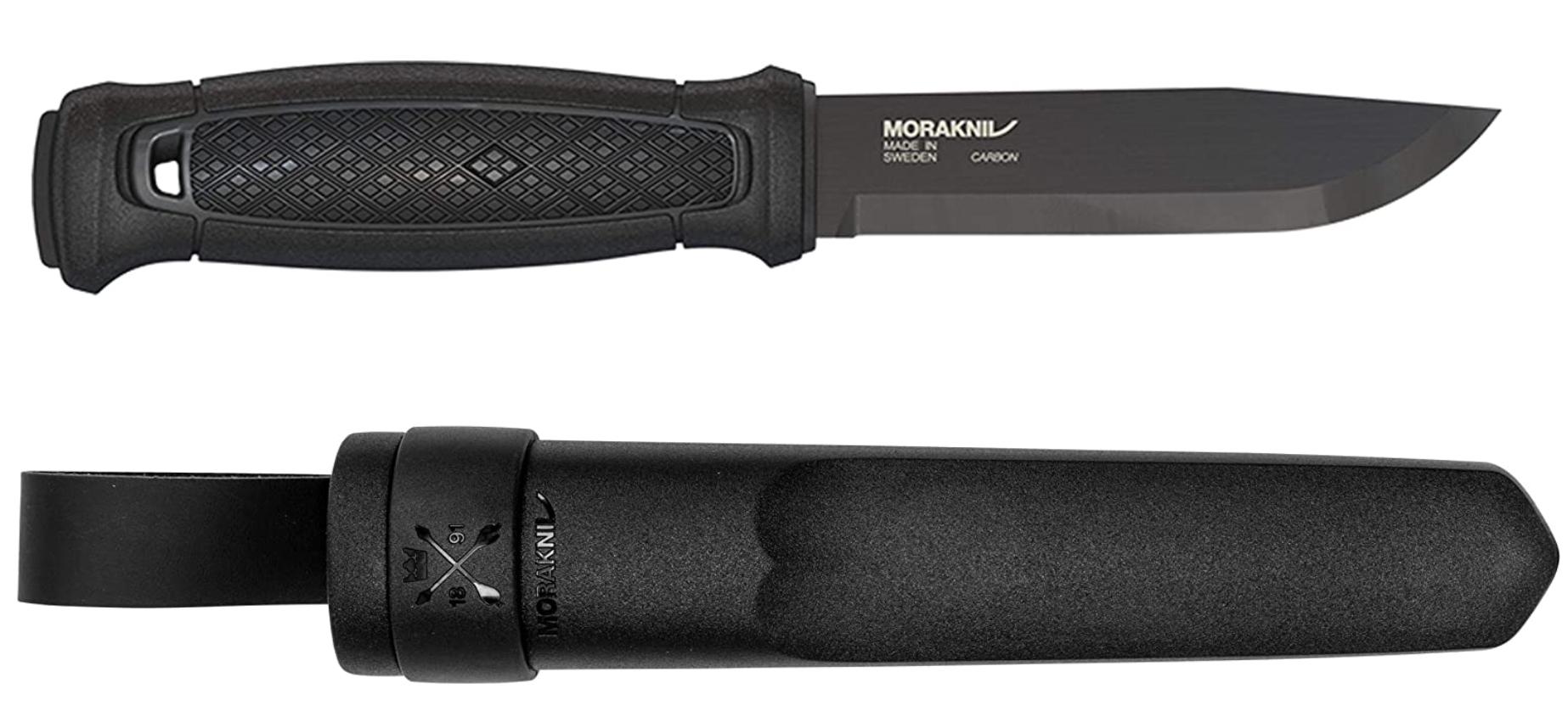 The all black Morkaniv Garberg knife and sheath